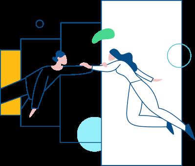 ilustracion personas dandose la mano